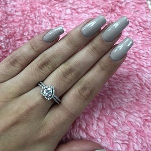 Sterling Silver and Cz heart ring
